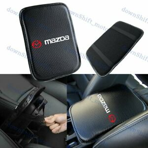 Embroidery For Mazda Carbon Fiber Center Console Armrest Cushion Mat Pad Cover