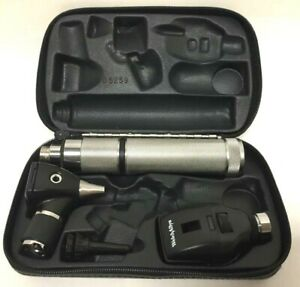 Welch Allyn 3 5v Otoscope Ophthalmoscope Diagnostic Kit 71050 c