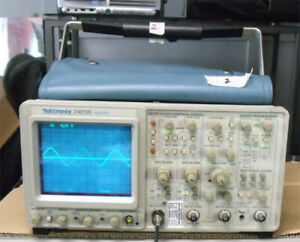 Tektronix 2465b 400mhz Analog 4 Channel Oscilloscope With Manual Manual