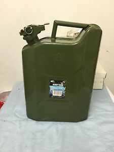 10l Military Jerry Metal Can For Oil Fuel Water Petrol Diesel Container