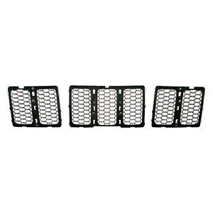Front Grille Insert Chrome Honeycomb Style For Jeep Grand Cherokee 2014 2015