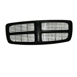 Front Grille Black For Dodge Ram 1500 2500 3500 2002 2005 Ch1200259