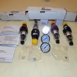 New Lot 4 Parker 14e11b18fc One Piece Combo Compressed Air Filter Regulator