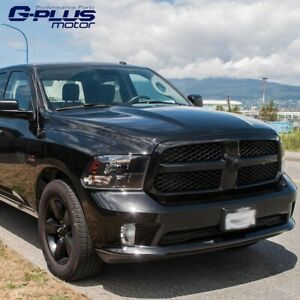 2013 2017 For Dodge Ram 1500 Glossy Black Honeycomb Mesh Front Bumper Grille