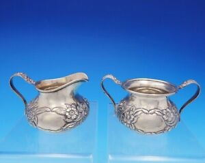 Repousse By Kirk Sterling Silver Sugar And Creamer Set 2pc 418b 3756