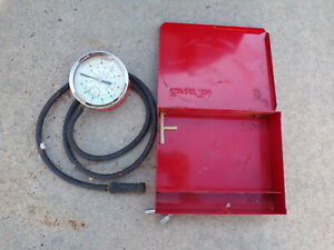 Vintage Antique Snap on Snap On Compression Or Vacuum Or Fuel Tester W Box