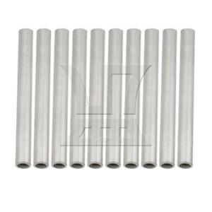 10pcs Od10xid7x1x100mm 304 Stainless Steel Capillary Metal Tube Pipe Tubing