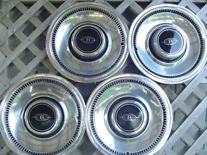 1974 1975 1976 Buick Riviera Hubcaps Wheel Covers Center Caps Vintage Classic