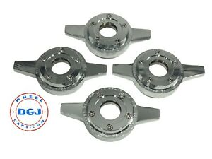 Zenith Locking Style Cut Chrome Knock off Spinner Cap For Lowrider Wire Wheels