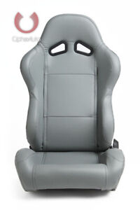 Cipher Auto Racing Seats gray Leatherette Pair