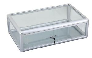 Glass Countertop Display Case With Front Lock