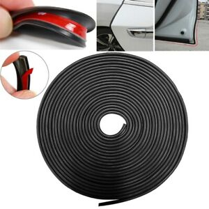 32ft Black Rubber Seal Car Door Edge Guard Trim Molding Protector Auto Strip 10m