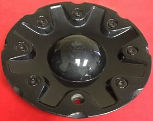 One Used American Racing Black Center Cap 1628200041 Wheel Center Cap 4943