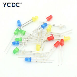3 5mm Green White Red Blue Yellow Led Light Emitting Diode Lamps 100pcs Lots 0a