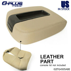 Center Console Armrest Leather Beige Cover For Chevy Tahoe Suburban 2007 2013