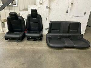 2010 2015 Chevrolet Camaro Ss Leather Seats Front Rear Coupe Black Gm Oem