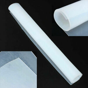 New 20 x20 1mm Thicknes Silicone Rubber Sheet Clear High Temperature Resistance