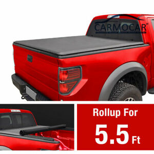 5 5 Ft Tonneau Cover For 2007 2021 Toyota Tundra 5 5 Ft 66 Short Bed Roll Up