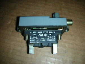 Square D 9007ao16 Series D Limit Switch Rotary Cw ccw Spdt 1no Spdt nc Nos