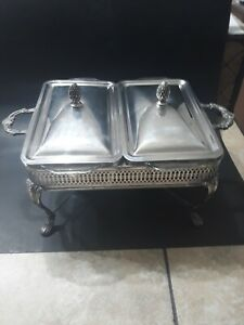 Sheffield Silver Company Double Chafing Warming Dish