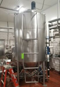 700 Gallon Jacketed Processing Tank kettle With Sweep Mixer Stainless Sanitary