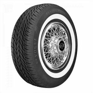 1 One New 235 75r15 Vogue Classic Whitewall All Season Tire 235 75 15 Blem