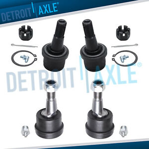 4wd Front Lower Upper Ball Joints For 2000 2001 2002 Dodge Ram 2500 3500 4x4