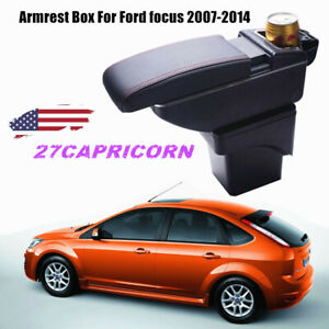 Leathe Armrest Box For Ford Focus 2007 14 Central Consoles Storage Box Arm Rest