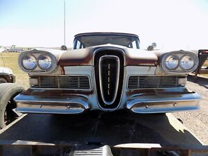 1958 Edsel Front Clip Grille Hood Fenders Ford Grill Trim Headlight Doors Couch