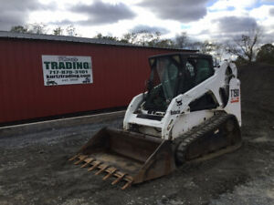 2005 Bobcat T190 Compact Track Skid Steer Loader W Cab One Owner Only 2800hrs