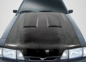 Ford Mustang 87 93 Carbon Creations Carbon Fiber Heat Extractor Hood