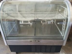 Deli Case Curved Glass Show Case Refrigerator Cooler Display Bakery