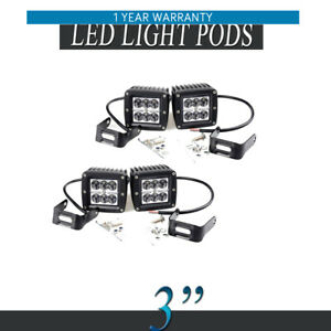 4x 3inch 18w Led Spot Offroad Cube Work Light Fog Driving Lighting Pods