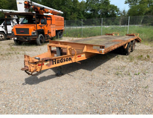 2005 Hudson Deck Over Equipment Trailer Pintle 25 740 Gvwr 25 Deck Dot d
