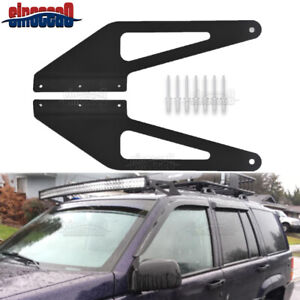 For 1993 1998 Jeep Grand Cherokee Zj Upper Roof 50 Led Light Bar Mount Brackets