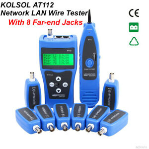 Kolsol At112 Network Ethernet Wire Tester Usb Coaxial Cable With 8 Far end Jacks