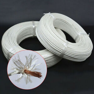 Heat Resistant High Temperature Silica Gel Glass Fibre Wire Cable 1000