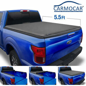 Black 5 5ft Roll Up Truck Bed Tonneau Cover For Ford F 150 5 5 Truck 2015 2018