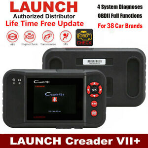 Launch X431 Creader Vii Obd2 Auto Diagnostic Scanner Tool 4 Systems As Crp123