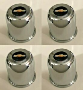 4 New 3 195 Center Caps Chrome 5 Lug Steel Wheels For Chevy Sst Weld Bow Tie