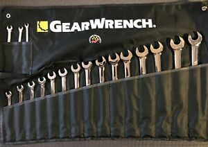 Gearwrench 81920 18 Piece 12 Point Long Pattern Combination Wrench Set 10 24mm