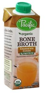 Pacific Foods Organic Chicken With Ginger Bone Broth 8 Fluid Oz 12 Per Case