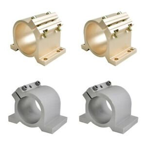 Cnc Spindle Clamp 65mm 80mm Mounting Bracket For Spindle Motor Gold silver