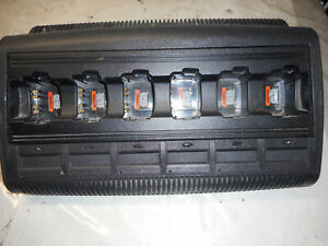 Motorola Impres 6 Bay Adaptive Multi unit Charger Wpln4197a Ht750 ht1250 ht1550