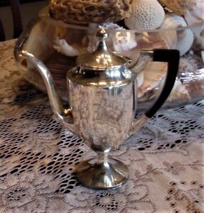 Sterling Silver Footed Lidded Tea Pot