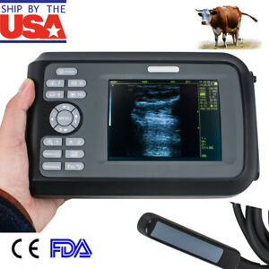 Handheld Veterinary Ultrasound Scanner Cow horse animal 7 5mhz Rectal Box V9