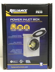 Reliance Controls Corporation Pb30 30 amp Nema 3r Power Inlet Box For Generators