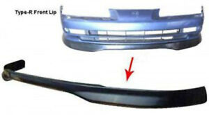 Type R Style Front Lip For 1992 1996 Honda Prelude Unpainted Black Polypropylene
