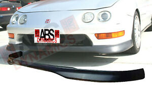 Type R Style Front Lip For 1998 01 Acura Integra 2d Unpainted Black Ppr Plastic