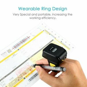 Eyoyo Wearable 1d Wireless Ring Barcode Scanner Mini Finger Bar Code Reader Usa